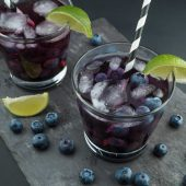 Super refreshing drink within blueberries