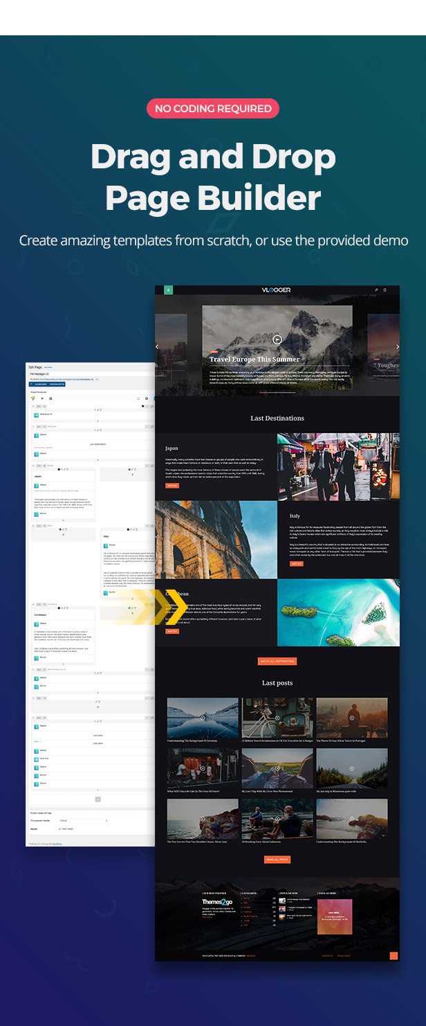 Visual page composer