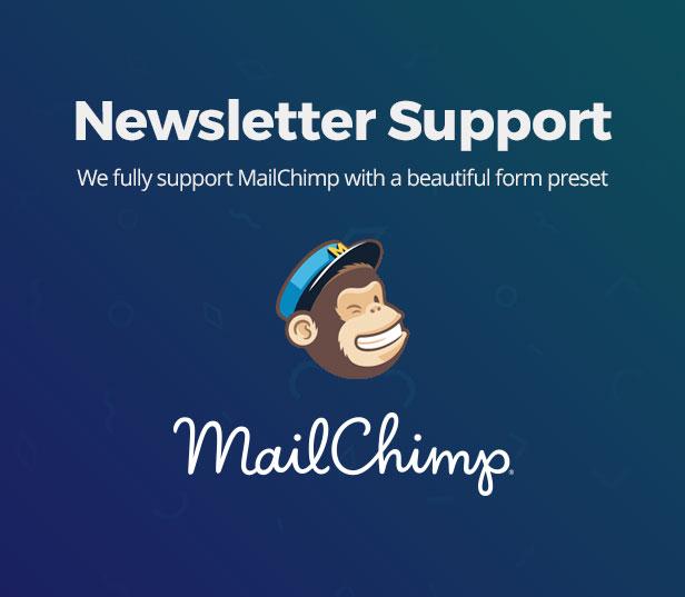 Mailchimp newsletter support