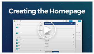 Vlogger - Creating the Homepage